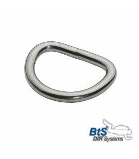 """D-Ring, 1"""" (25mm) Edelstahl"""