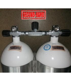 Mono Stahlflasche 2 Liter - 20 Liter , 230 Bar, Ventil ausbaufähig Rechts mit Blindstopfen