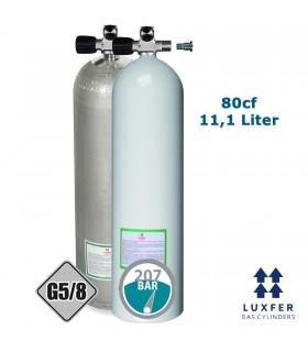 Luxfer Mono Alu Flasche 80cf mit ausbaufähigem Ventil links