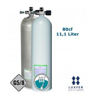 Luxfer Mono Alu Flasche 80cf mit ausbaufähigem Mono Ventil RECHTS