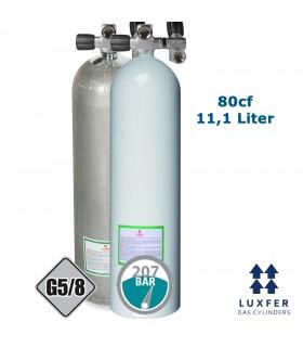 Luxfer Mono Alu Flasche 80cf mit ausbaufähigem Ventil inkl. Zweitabgang