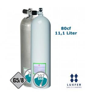 Luxfer Mono Alu Flasche 80cf mit Mono Ventil