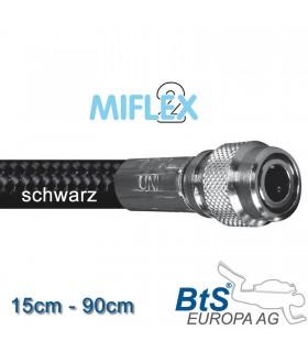 Miflex hoch flexibler Inflatorschlauch schwarz