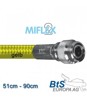 Miflex hoch flexibler Inflatorschlauch gelb