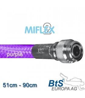 Miflex hoch flexibler Inflatorschlauch purple