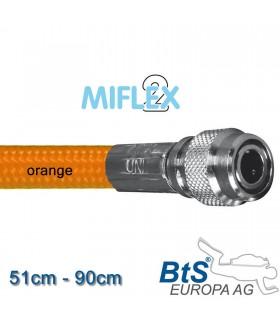 Miflex hoch flexibler Inflatorschlauch orange